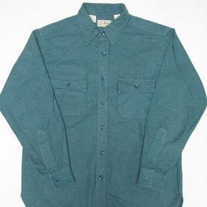 L.L. Bean Cotton Chamois Shirt Size 16 1/2 (Large)